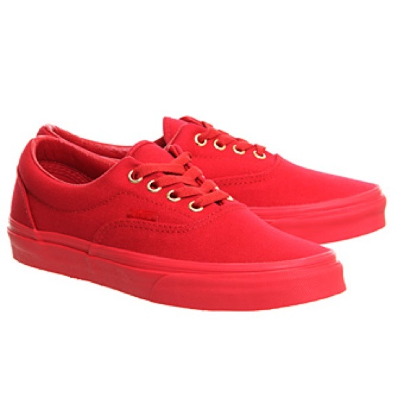 all red classic vans
